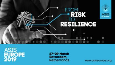 ASIS Europe 2019 – From Risk to Resilience